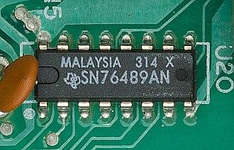 Texas Instruments SN76489 - Image: SN76489 01