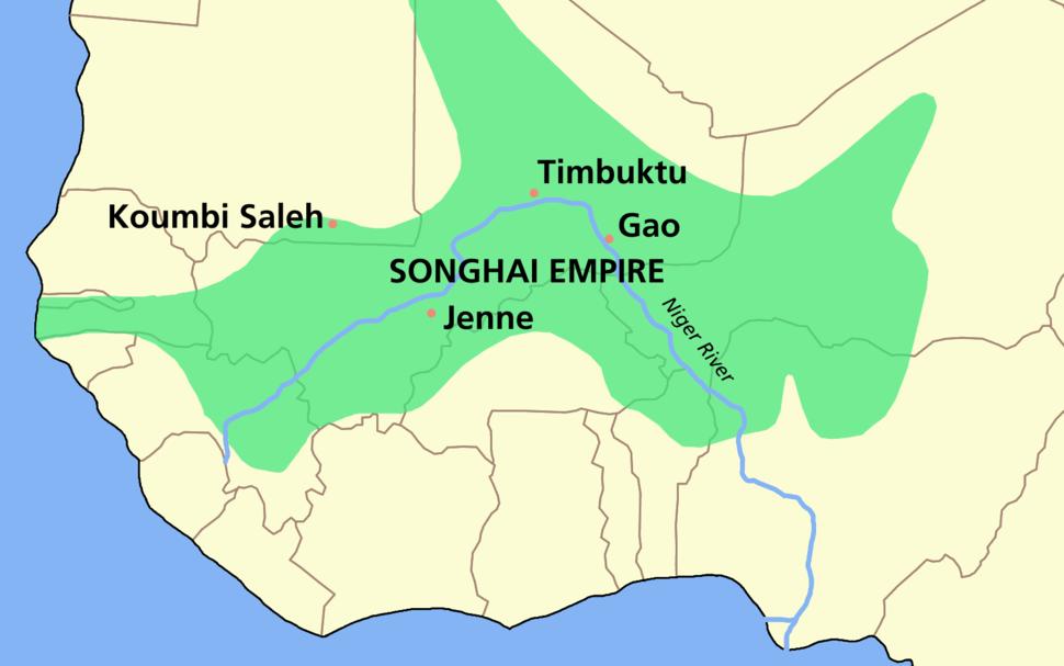 SONGHAI empire map