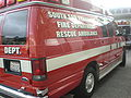 SSFFD Ford E-350 rescue ambulance side rear.JPG