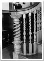 STAIRWAY, DETAIL OF NEWEL POST - Derby House, 168 Derby Street, Salem, Essex County, MA HABS MASS,5-SAL,30-8.tif