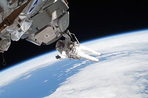 STS-130 EVA3 Nicholas Patrick 1