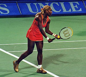 Serena Williams - Playing Amélie Mauresmo in the quarterfinals of the tournament in Sydney in 2002