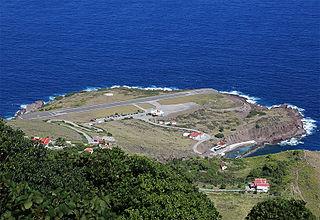 Juancho E. Yrausquin Airport airport on the Caribbean island of Saba