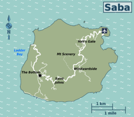 Travel Map of Saba