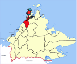 Location of Kota Belud