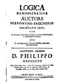 ジョヴァンニ・ジェローラモ・サッケーリ - Wikipedia