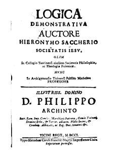 Giovanni Girolamo Saccheri