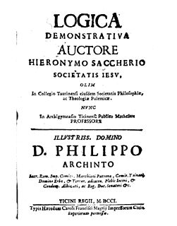 Giovanni Girolamo Saccheri Italian mathematician