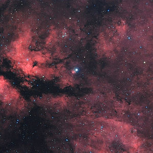 Gamma Cygni - γ Cygni (center star) and surroundings. Image by Jeff Johnson.