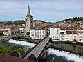 Saint-Girons (Ariège) Le pont-vieux sur le Salat au centre-ville.jpg