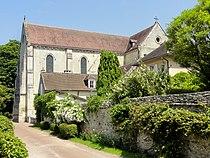 Saint-Jean-aux-Bois (60), église abbatiale, vue depuis le sud.jpg