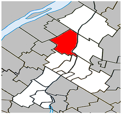 Location within La Vallée-du-Richelieu RCM.