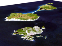 Simulated view of the islands by NASA