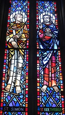 Saint Anthony of Padua Catholic Church (Dayton, Ohio) - stained glass, Sts. Simon & Jude