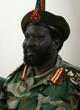 Salva Kiir Mayardit - Salva Kiir Mayardit in military uniform