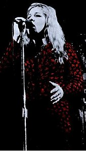 Image of singer Sandy Denny from a trade ad for Fairport Connection's A Moveable Feast in 1974