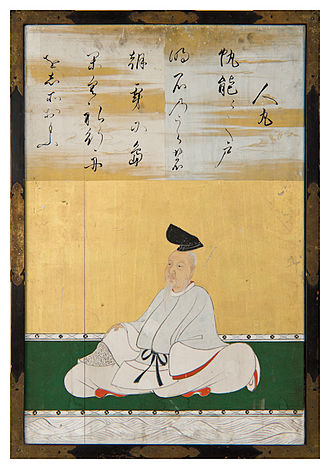 Kakinomoto no Hitomaro - Image: Sanjūrokkasen gaku 1 Kanō Tan'yū Hitomaru