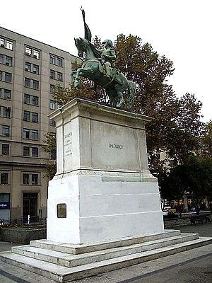 Legacy of José de San Martín - Monument of San Martín in Santiago de Chile.