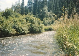 Ferry County, Washington - The Sanpoil River flows south to the Columbia