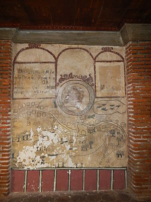 Santa Monica Parish Church (Minalin) - The 1619 mural detailing Minalin, Pampanga during that period.