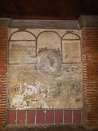 Santa Monica Parish Church (Minalin) - The 1619 mural detailing Minalin, Pampanga during that period.