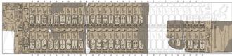 Saqqara Tablet - Drawing of the Saqqara King List based on photographs and drawings from 1864-65.