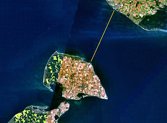 Fehmarn Belt - Location of the ferry route.