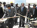 Sayed Mustafa Kazemi and Zalmay Khalizad in 2004.jpg