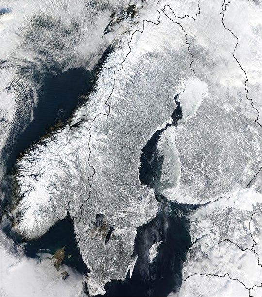 Scandinavian Peninsula in Winter (February 19, 2003)