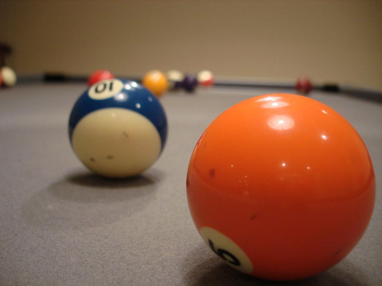 Pool Table Balls Scattered Súbor:Scattered b...