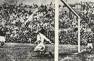 Angelo Schiavio - Schiavio scoring against Czechoslovakia in the 1934 World Cup Final.
