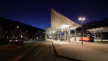 Schladming railway station at night.jpg