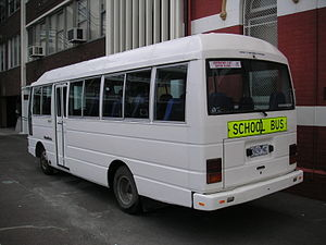 Student transport - A bus from a high school in Melbourne, Victoria.