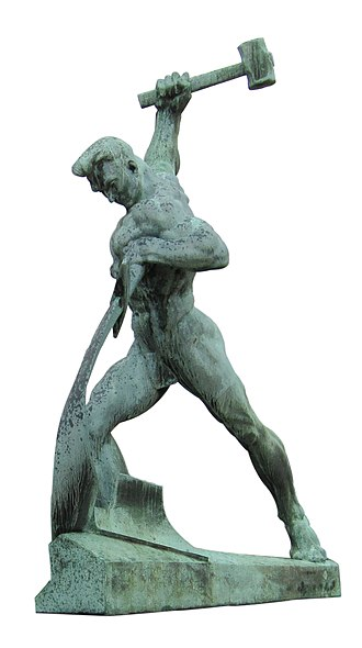 Swords to ploughshares - Let Us Beat Swords into Plowshares, a sculpture by Evgeniy Vuchetich in the United Nations Art Collection