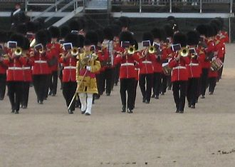 Band of the Scots Guards - The Band of the Scots Guards beating retreat at Horseguards in London in 2008