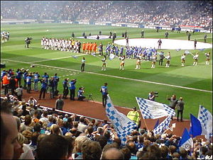 2008 Scottish Cup Final - Two teams before the start of the match