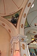 Sculptures and ceiling in the church.JPG