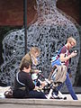 Seated and Strolling with Sculpture Reflected - Johann Wolfgang Goethe University - Frankfurt - Germany.jpg