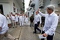 Secretary Kerry Waves to Passersby As He Walks Through the Historic District of Cartagena (29949978945).jpg