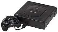A model 1 Sega Saturn, which Sonic X-treme was intended for release on