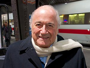 Sepp Blatter - Blatter at Zurich Train station in November 2013