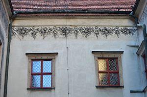 Brzeg Town Hall - Image: Sgraffito on Brzeg Town Hall 1