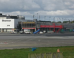 Shannon Airport - East-facing side of the terminal building