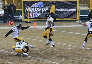 Shaun Suisham - Suisham on a field goal attempt in 2013.