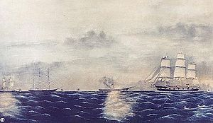 CSS Shenandoah - Shenandoah destroying whaleships