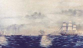 CSS Shenandoah - Shenandoah destroying whaleships