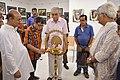 Shibnath Basak Lighting Inaugural Lamp - 43rd PAD Group Exhibition Inauguration - Kolkata 2017-06-20 0355.JPG