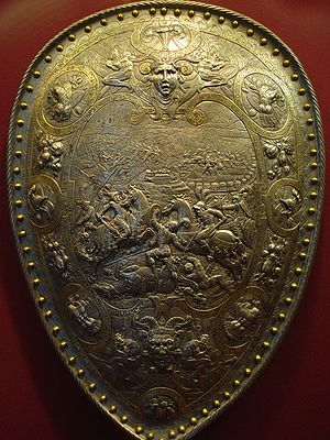 Étienne Delaune - Shield of Henry II of France, depicting Hannibal's victory of the Romans at Cannae in 216 BC