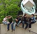 Shimer Students at Galvin Library.jpg