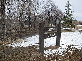 Shingle Creek, Minneapolis - Sign for Shingle Creek